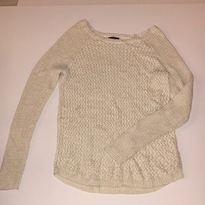 Cream and gold tinsel sweater